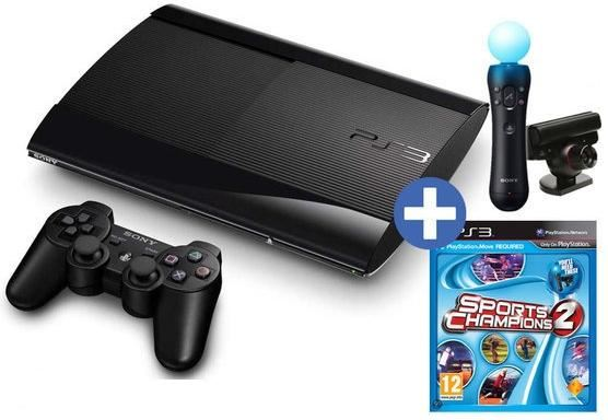 GAM SONY PS3 12GB Ultra Slim + Move Starter Pack/Sport Champions 2