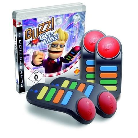 Buzz! Quiz World/Wireless Buzzers/HR PS3