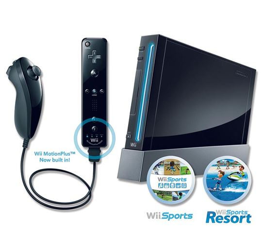 Nintendo Wii Sports Resort Black